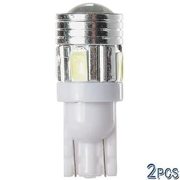 XCSOURCE® Bombilla LED T10 5W para Coche con 6 LED SMD 5730, 2 Unidades