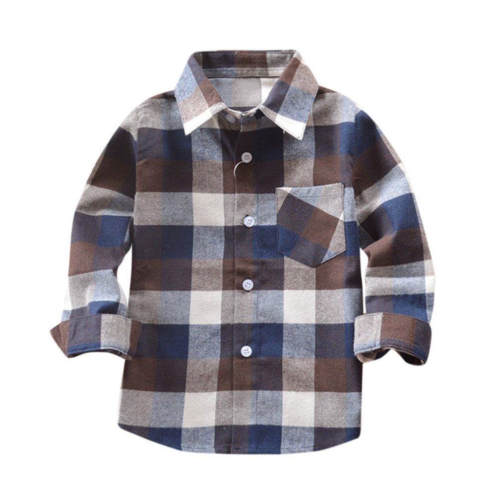 Camicie a Quadri Manica Lungo Abbigliamento per Bambini Elegante Idea Regalo per Neonato Ragazzi Vestito da Ragazzo Manica Lunga 2019丨Maglietta Ragazze Primavera e Autunno