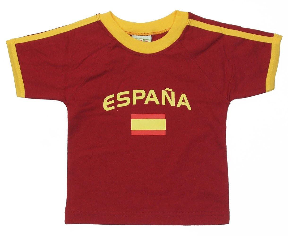 PAM GM Little Boys Spain Soccer T-Shirt With Flag Print