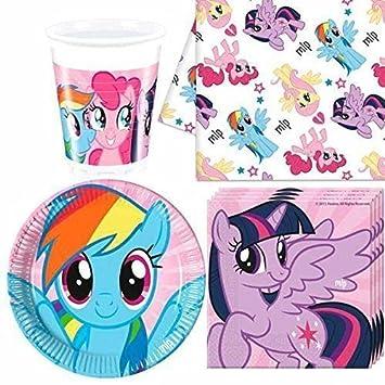 My little Pony Pack de vajilla de fiesta para 8: Amazon.es: Juguetes y juegos