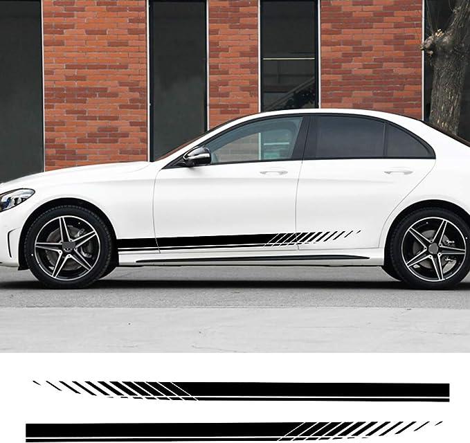 1Pair Car Sticker Side Door Stripes Sticker Racing Decal Auto Body Decor H8A9