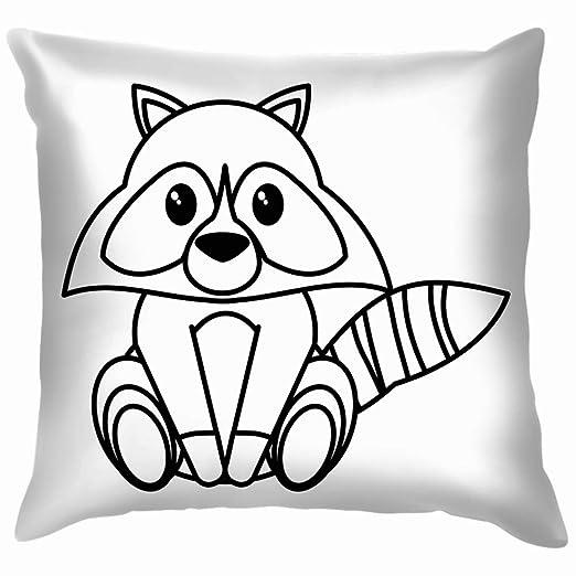 Chou_Joo_Home Raccoon - Funda de cojín con diseño de Dibujos ...