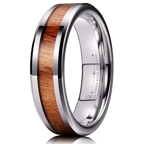 Amazon.com: Anillo de boda de tungsteno de 0.236 in con ...