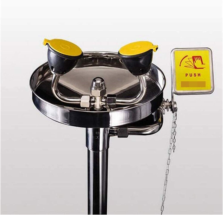 TGBY Montado-Pedestal de Acero Inoxidable Lavaojos de Emergencia con el Pedal del Grifo de la Espuma Agua for la Limpieza de Emergencia Mejora la eficiencia de Limpieza 12