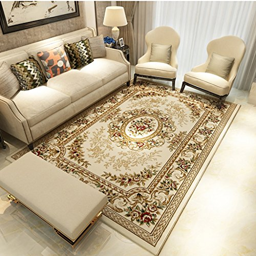 TMY Sala Alfombra Antideslizante Acolchado Sofá de Felpa Dormitorio Cama Arte Hogar Europeo (tamaño : 160 * 230CM)