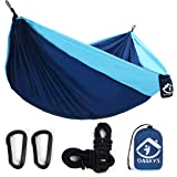 oaskys Camping Hammock Double with 2 Tree Straps Made of Portable Lightweight Nylon Parachute for Backpacking,Travel…