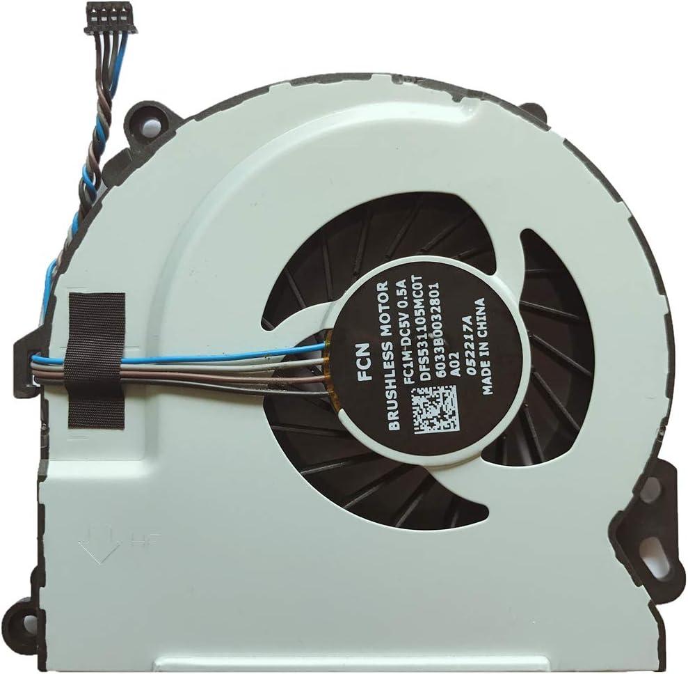 Compatible Laptop CPU Cooling Fan Cooler for HP Envy M7-J M7-J000 M7-J100 m7-j003xx m7-j010dx m7-j020dx m7-j078ca m7-j120dx m7-j178ca FCN FC1M DC5V 0.5A DFS531105MC0T 6033B0032801