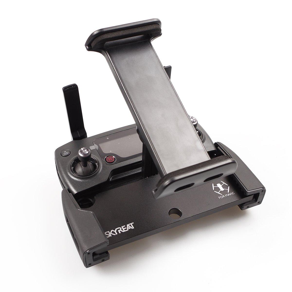 SKYREAT Mavic Air Pro Foldable Aluminum-Alloy 4-12 Inches Ipad Tablet Mount Holder for DJI Mavic 2 Pro ,Mavic 2 Zoom / Mavic Pro / Mavic Air ,DJI Spark Accessories Remote Controller