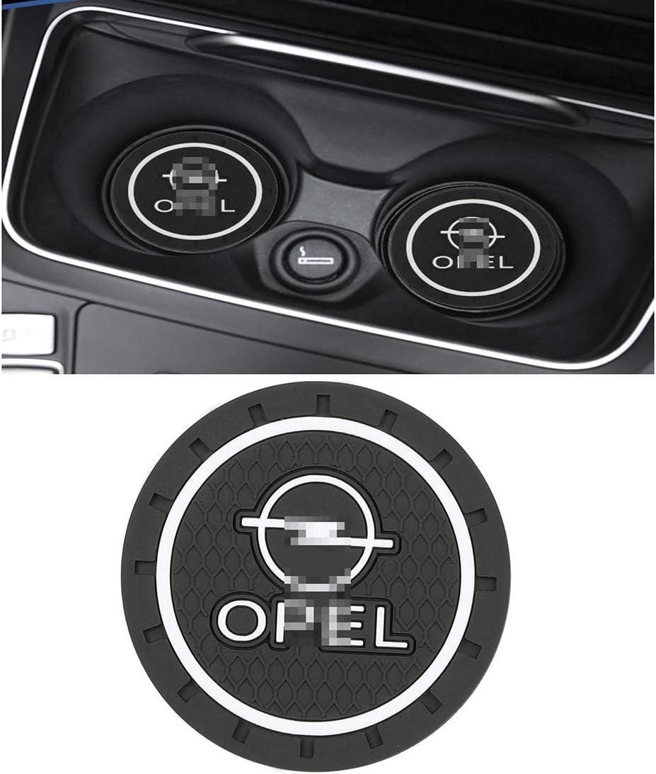 For Opel Astra H G J Insignia Mokka Zafira Corsa Vectra C D QWASZX 2 Pcs Car Cup Anti-Slip Mat Pad Cup Holder Coaster Auto Interior Decoration Pad Round Pvc Anti-Skid Coasters
