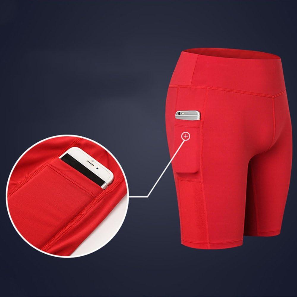 SwissWell Femme Short de Jogging Legging Fitness Yoga Shorts Collant Mesh Pantalons Courts de Cyclisme Hot Pants d/'entra/înement avec Poches