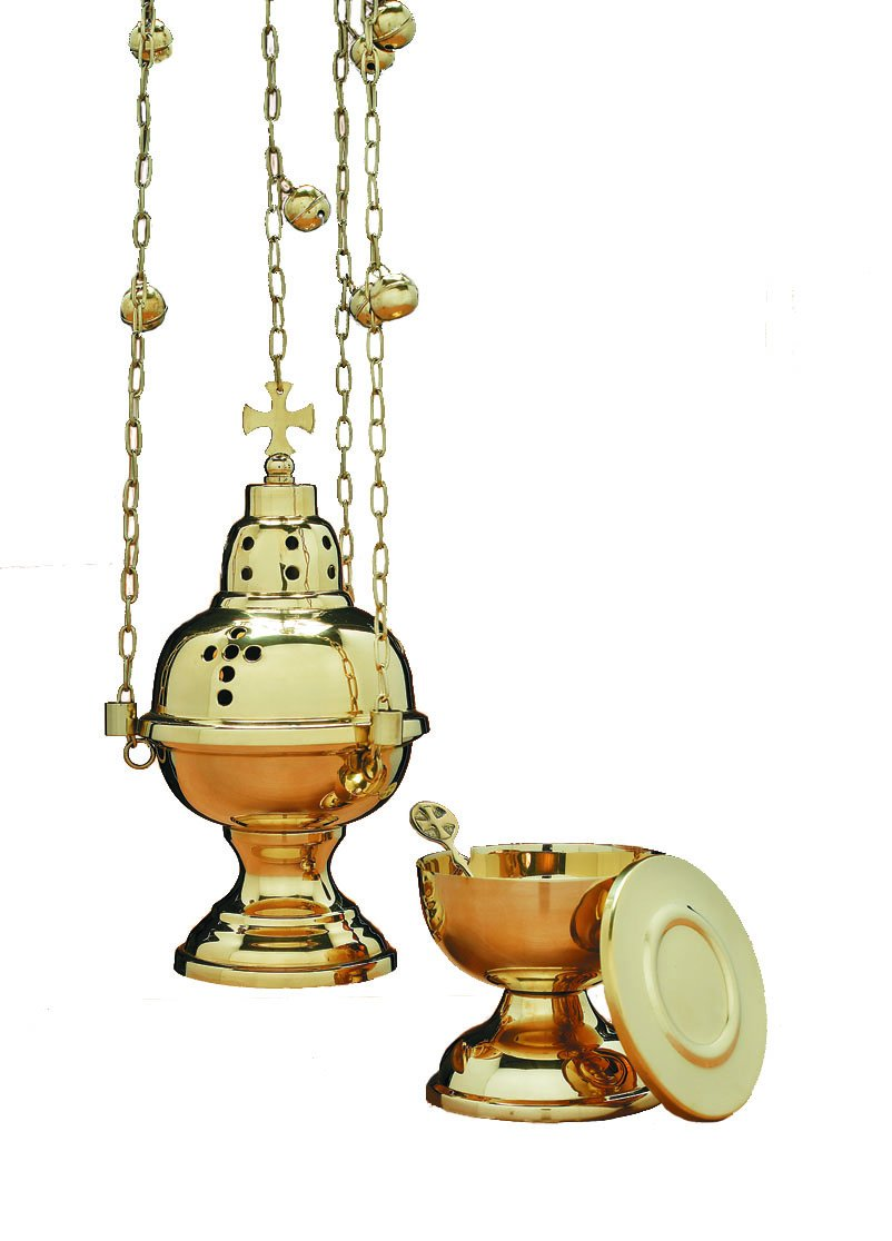 Eastern Rite Censer with 12 Bells and Boat Set B007S77XZ8