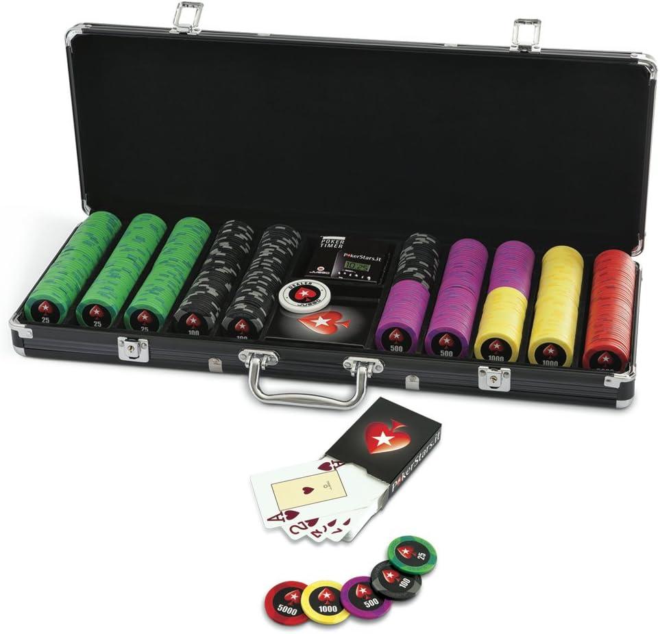 Juego - Pokerstars 500, maletín con fichas (ITA Toys JU00651): Amazon.es: Juguetes y juegos