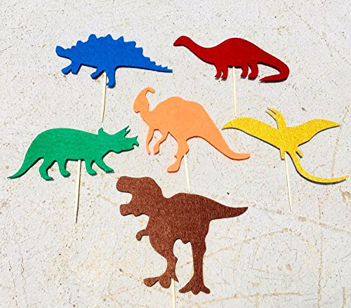 Wall of Dragon 6pcs/Pack Felt Dinosaur Cake Toppers Muffin Picks for Unique Cake Decorations for s Dino Party Birthday Party Decoration for $<!--$10.20-->