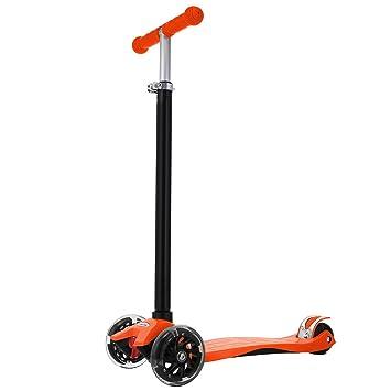 Ncient Mini Scooter Patinetes para Niños Niñas de 3-12 Años con 3 Ruedas Luces