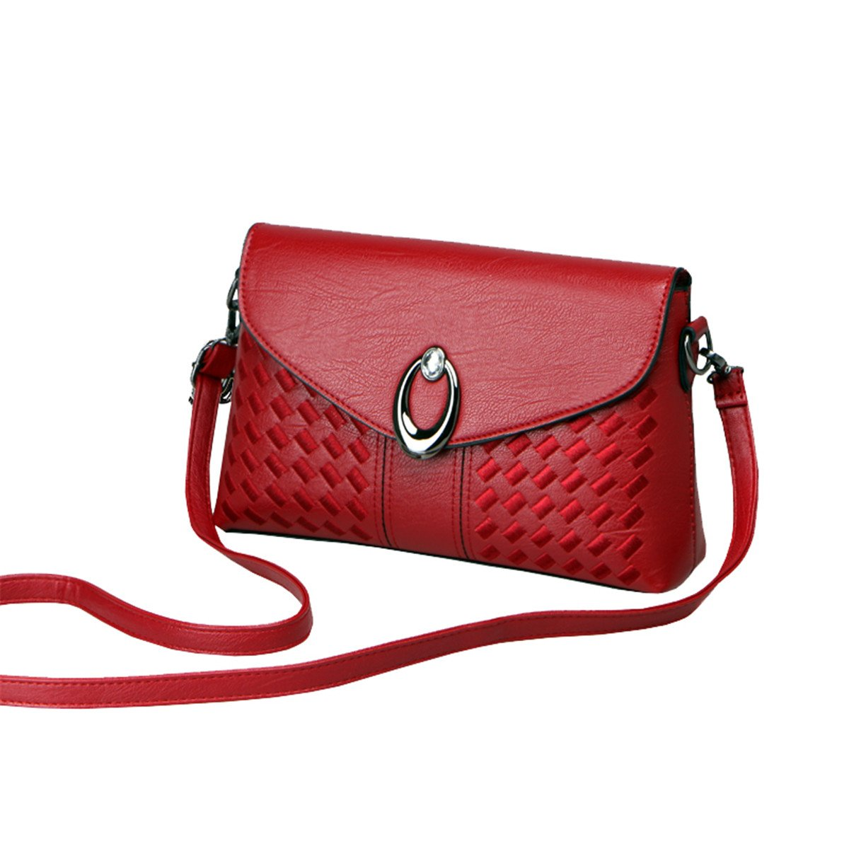 HFmorning Pure Color Shoulder Bags Simple Cross Body Bags Retro Handbags PU Leather Satchel for Women