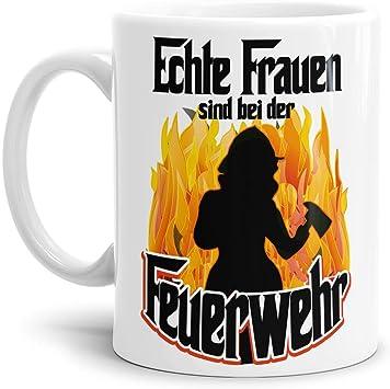 Amazon De Feuerwehr Tasse Echte Frauen Fw Beruf Helden Lustig Spruch Geschenk Idee Weiss
