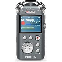 Philips DVT7500 Audiorekorder mit 3 Mikrofonen (Aufnahmegerät für Musik in Studioqualität, XLR und Line-In Anschluss, Tonaufnahmen in MP3 und PCM-Format, Stativgewinde, 16 GB) anthrazit/chrom