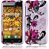 For Alcatel One Touch Fierce 7024W Cover Case (Purple Lily)