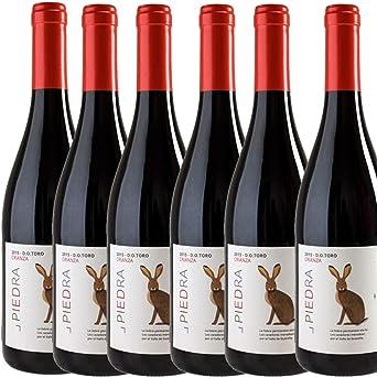 Vino Tinto Estancia Piedra Crianza - D.O. Toro - Caja 6 botellas x 75cl: Amazon.es: Alimentación y bebidas