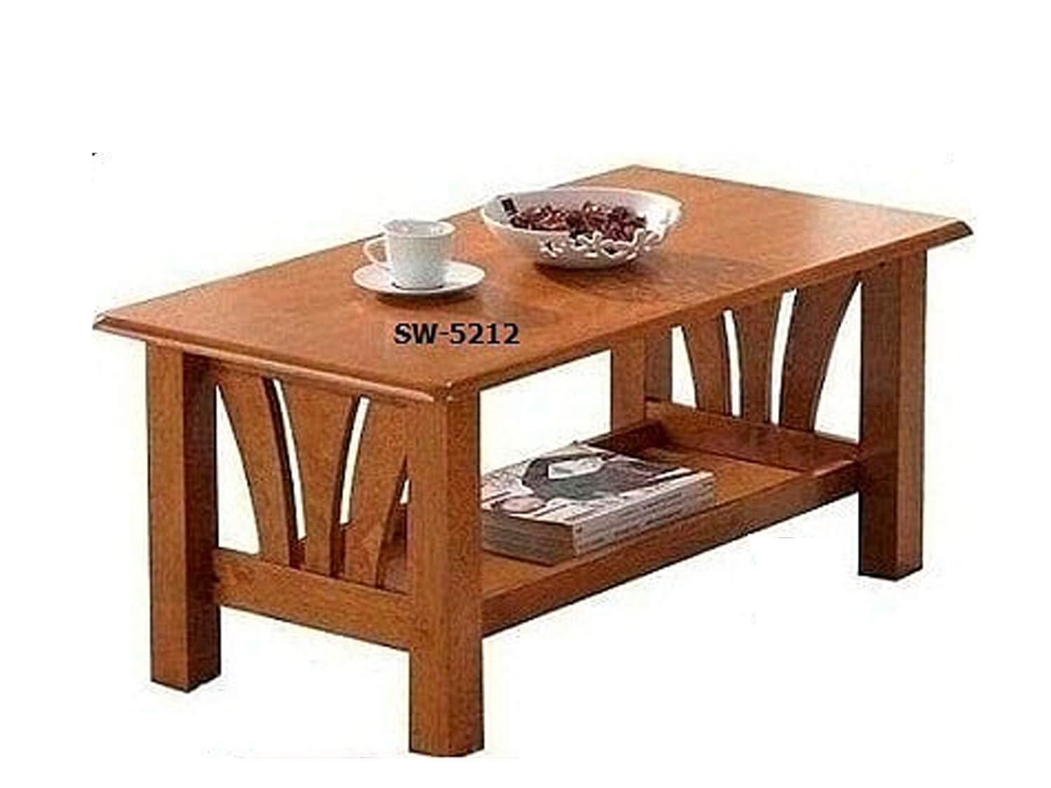 T2a Dustro Wooden Coffee Table Heavy Duty Solid Wooden Top