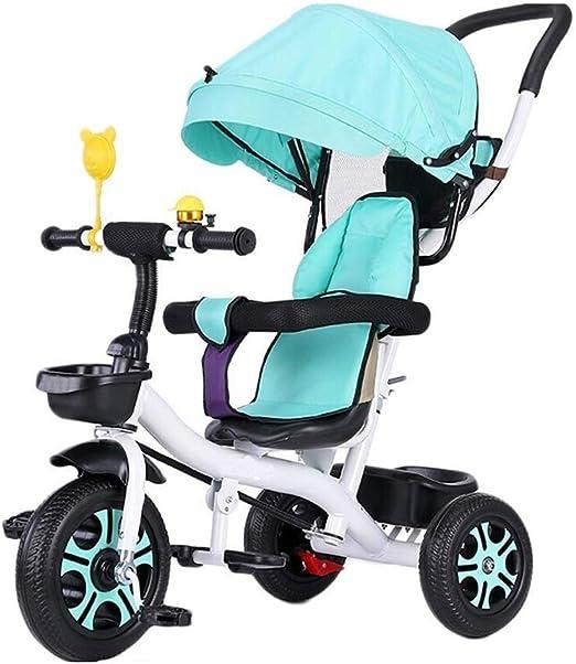 YETC Moto Nueva bebé Bicicleta Triciclo Infantil Cochecito de bebé (Color : Blue): Amazon.es: Hogar