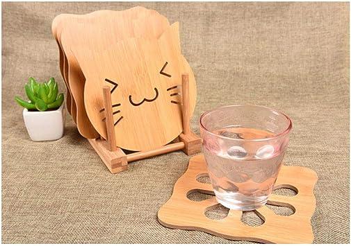 bandeja de almacenamiento Bandeja de madera de bamb/ú platos 18,5 x 12 x 10 cm BESTONZON soporte para platos tapas cuencos bandeja de goteo libro tazas superficie de secado