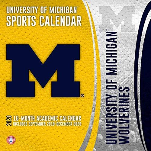 Umich 2022 Academic Calendar.University Of Michigan Wolverines 2020 Calendar Lang Companies Inc 0841622134274 Amazon Com Books