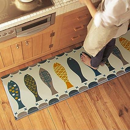 Floor Mat Fish Carpet Foviza Non-Slip Mats Anti Mildew Rug for Door Bathroom Kitchen Home Blanket