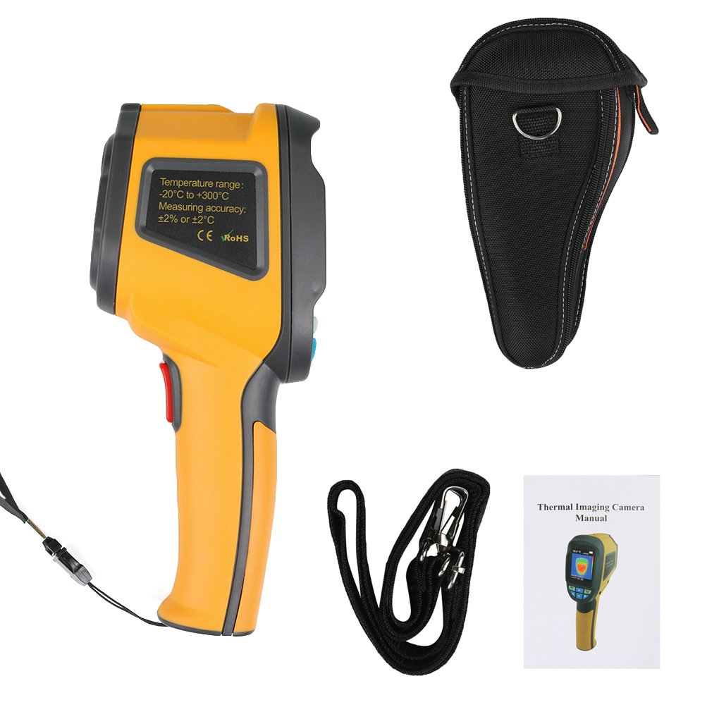 HT-02D Handheld IR Thermal Imaging Camera Digital Display 1024P 32x32 Infrared Image Resolution Thermal Imager dainpo