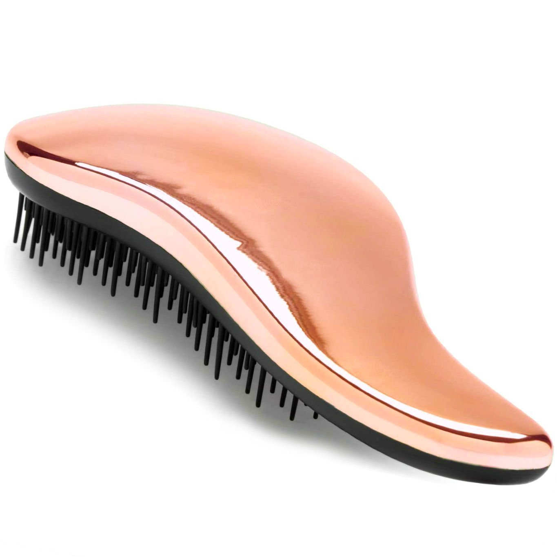 #1 BEST Detangling Brush - Detangler Hairbrush for Wet, Dry, Fine, Thick & Kids Hair, Rose Gold Lily England