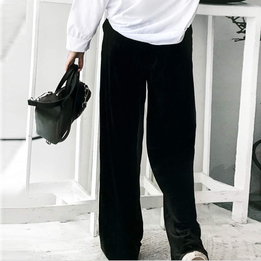 7baef6468d Pantalones Rectos Largo para Mujer Invierno Oto ñ o Tallas Grandes PAOLIAN  Pantal ó n de Vestir Yoga Terciopelo Cintura ...