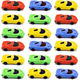 Car Eraser, Pencil Eraser Pocket Toy Party Favors Kids School Office Stationary, Random Color, 24 PCS