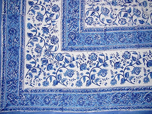 Homestead Rajasthan Block Print Tapestry Cotton Bedspread 106