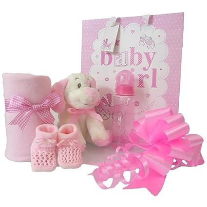Juego de cesta de regalo para bebé niña, cesta rosa/baby shower ...