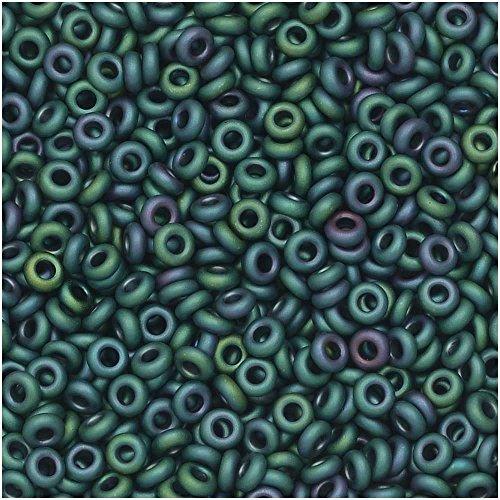 (Toho Demi Round Seed Beads, Thin 11/0 (2.2mm) Size, 7.8 Grams, 706 Matte Iris Teal)