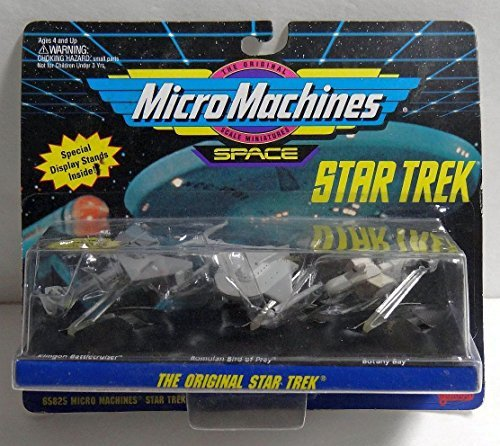 - Micro Machines Original Star Trek Botany Bay, Romulan Bird of Prey, Klingon Battlecruiser