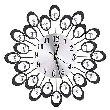 Amazon Com Chlzyd 3d Special Wall Clock Diamonds Non Ticking Silent
