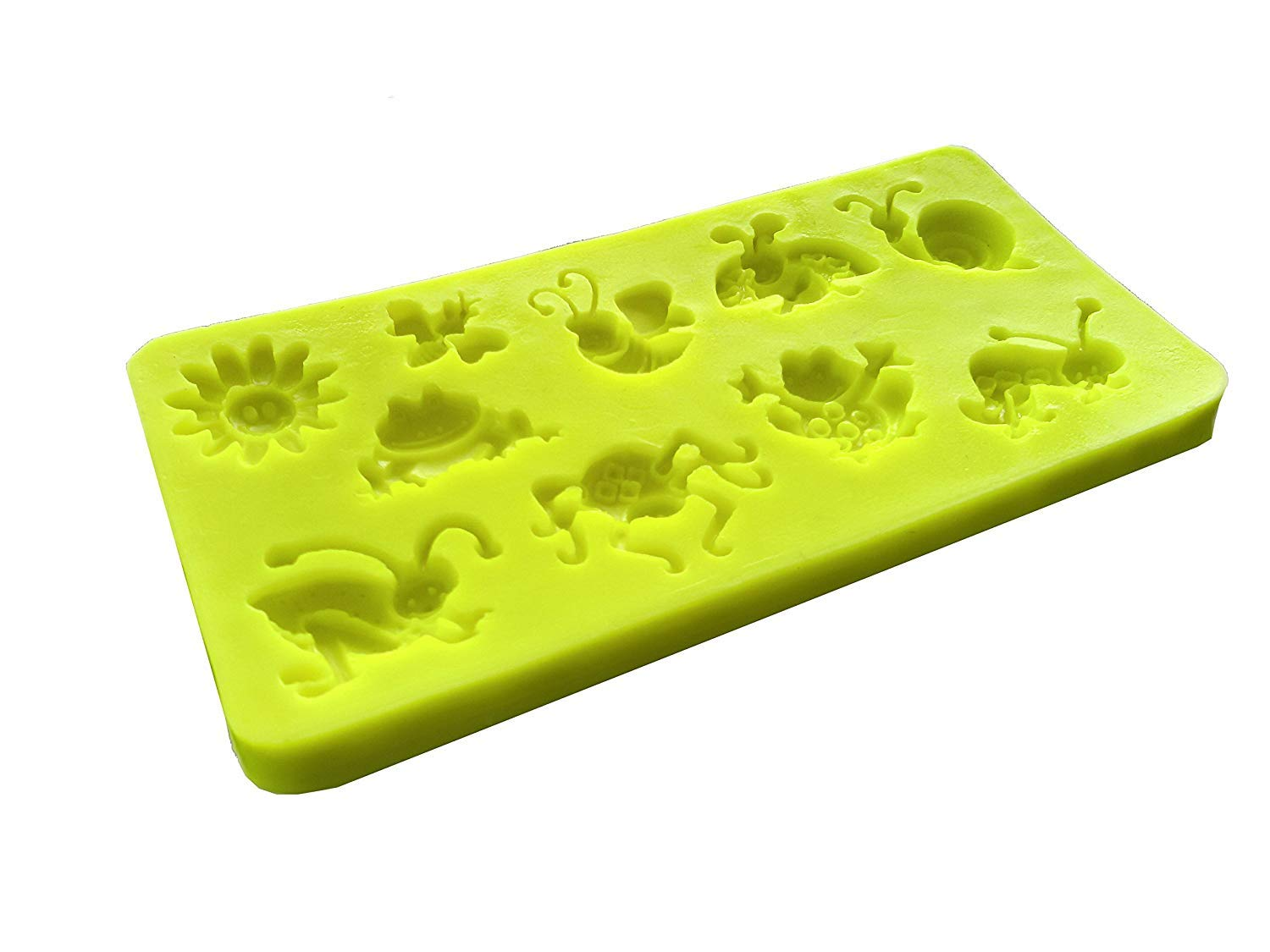 Inception Pro Infinite Silicone mold mould arts and crafts frog toad earthworm grillo snail spider bee ladybird powdered smile