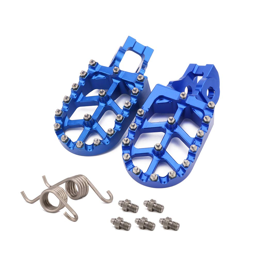 JFGRACING CNC MX Foot Pegs Footpegs Rest Pedals For KTM 2016-2018 85-530 SX SXF EXC EXCF XCF XCW
