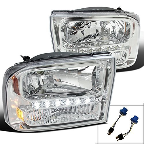 (Spec-D Tuning 2LH-F250991PC-RS Chrome Headlight (1 Piece Euro With Led))