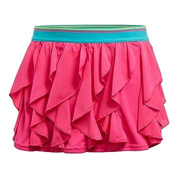 adidas Falda de Tenis con Volantes para niñas, niña, DH2806, Shock ...