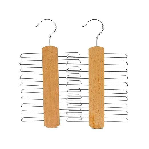 REFURBISHHOUSE Perchas de Corbata de Madera para 20 Corbatas O ...