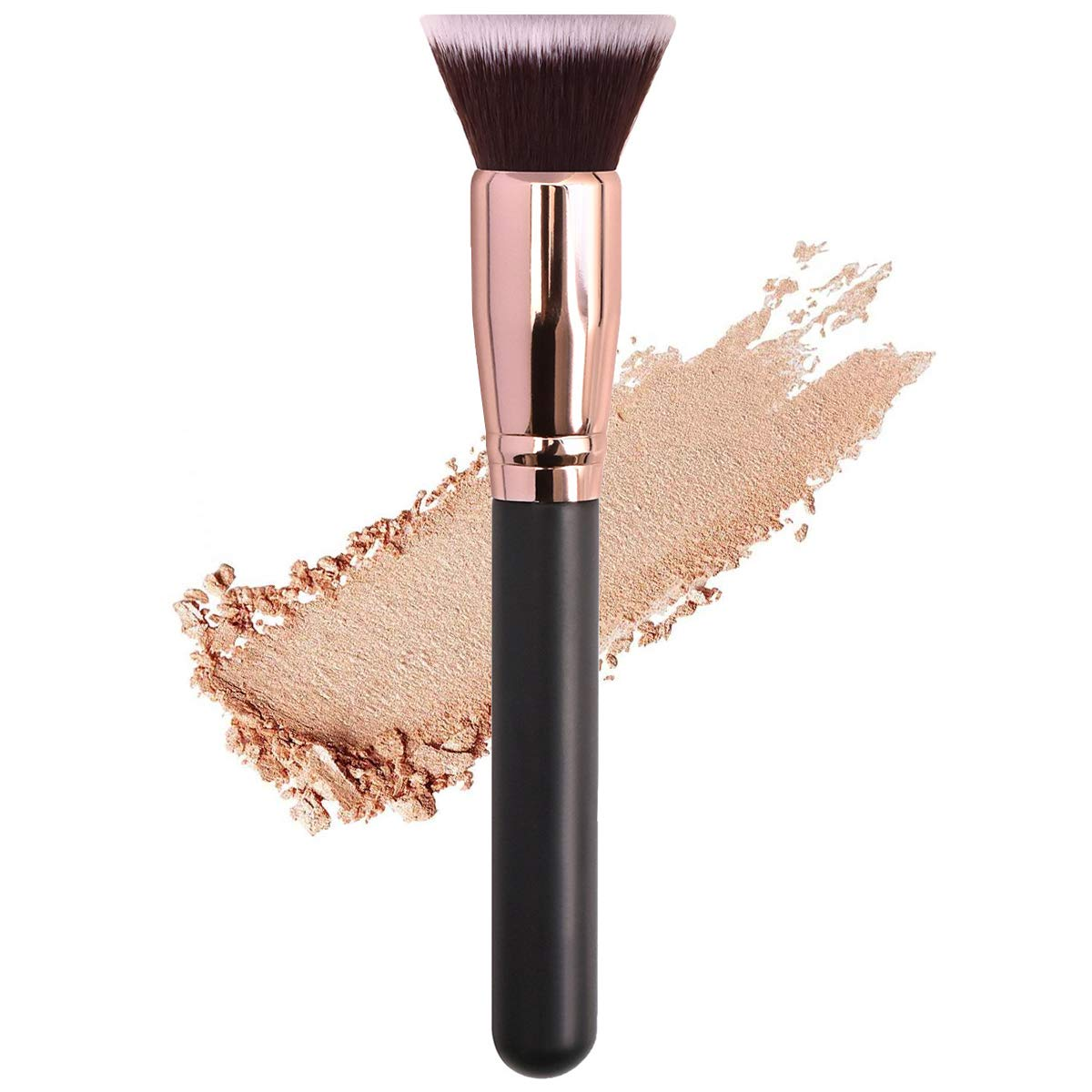 Flat Top Kabuki Brush Powder Foundation Makeup Brush, KINGMAS Premium Makeup Brush for Buffing Liquid, Cream, Powder, Blending Face Brush