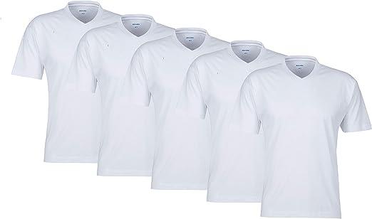 MioRalini 5 Camisetas para Hombre 100% algodón Camisetas con Cuello en v: Amazon.es: Ropa y accesorios