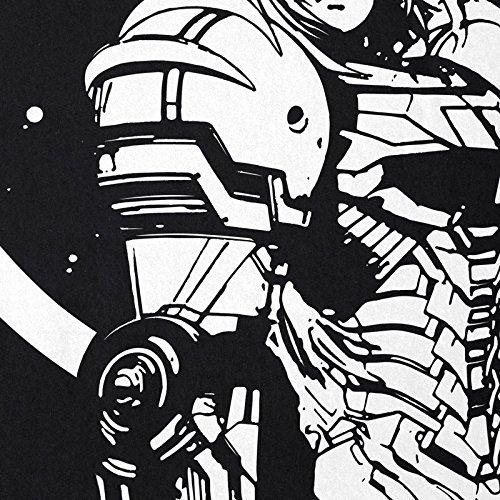 Black ni Metroid os Camiseta Hormiga Snes Geek Samus para Return Nerd Gamer Nes wvqxqFRTWI