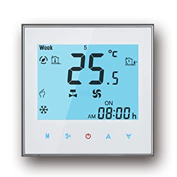 WIFI Thermostat, Arxus WIFI Steuerung LCD Touchscreen 2/4-Rohr ...