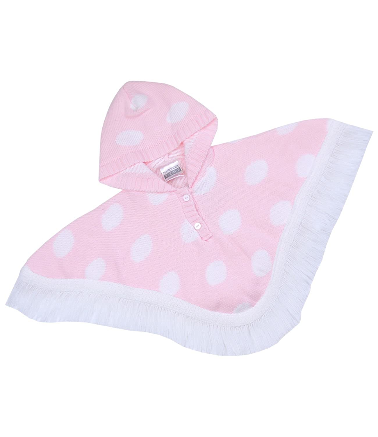 40997d89e Amazon.com  BabyPrem Baby Spotted Poncho Pink Girl Infant Clothes ...