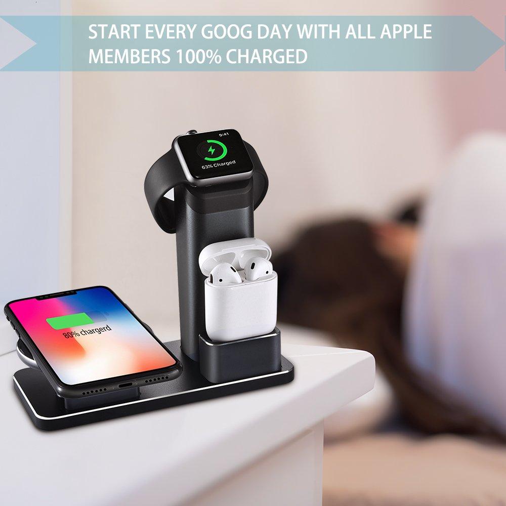 Amazon.com: Wuloo iPhone inalámbrico almohadilla de carga ...