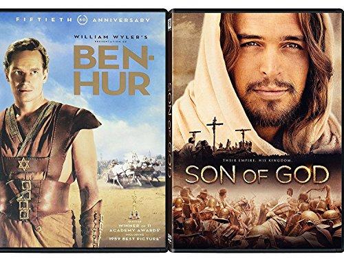 Romans Classic Ben Hur + Son of God Jesus Film Double Feature 2-DVD Bundle by