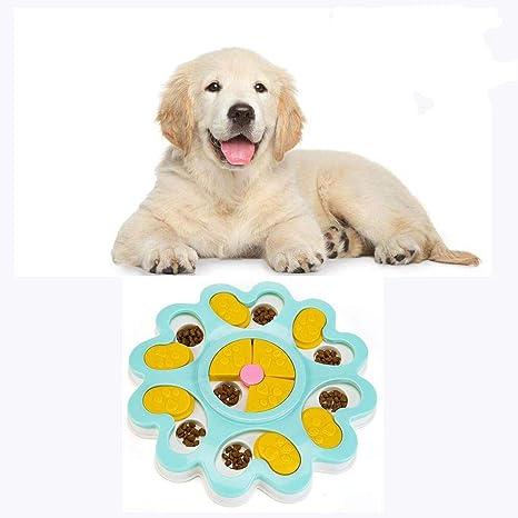 Teammao Gato Perro Puzzle Inteligencia Juguete Mascotas Diversión Interactiva Ocultar y Buscar Alimentos Tratada Plastico Juguete